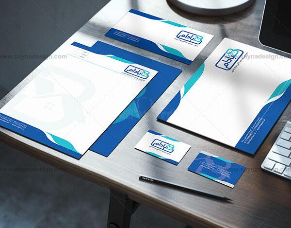 طراحی پاکت نامه طراحی ست اداری
