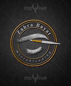 طراحی لوگو خانم زهرا بیات طراحی لوگو طراحی لوگو bayat 01