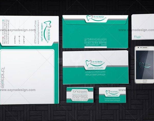 طراحی ست اداری دکتر محمد عاطفت متخصص ایمپلنت