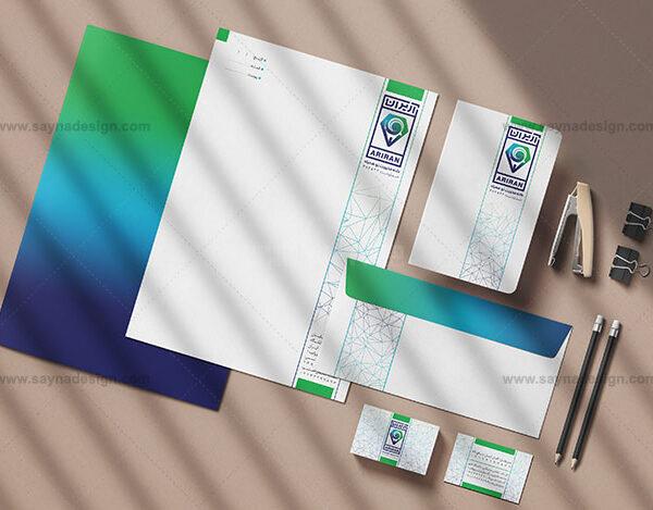 طراحی ست اداری طراحی کارت ویزیت شرکت