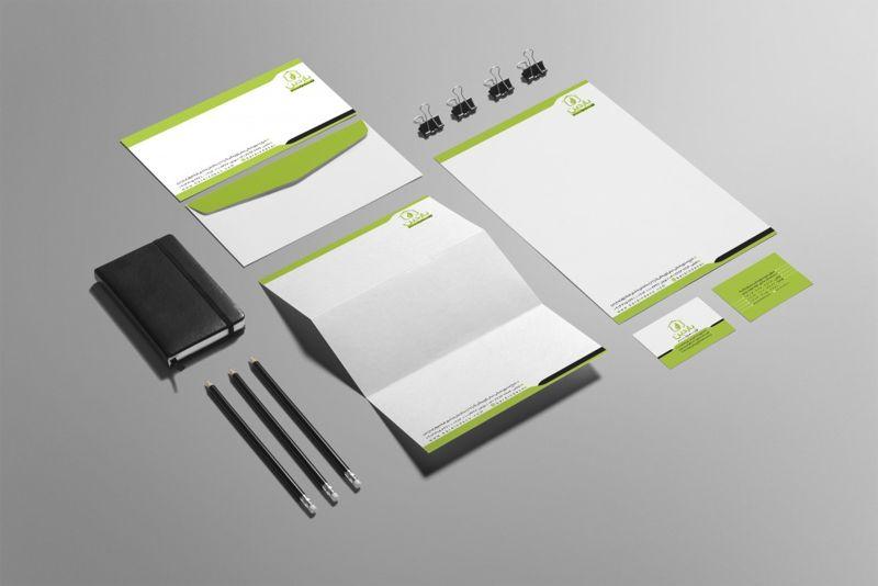 طراحی ست اداری و کارت ویزیت باردین