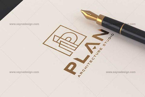 طراحی لوگو استودیو معماری پلان