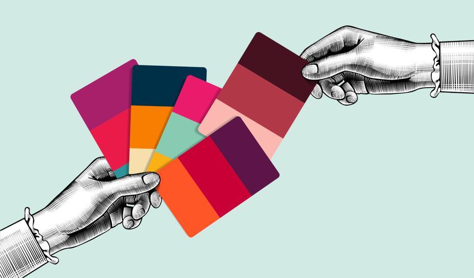 رنگ عامل مهم طراحی کاتالوگ